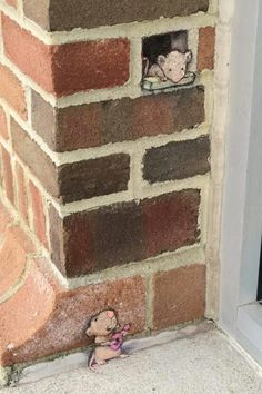 so cute - David Zinn chalk art - OM. so cute - David Zinn chalk art - 3d Street Art, Murals Street Art, Street Art Graffiti, Amazing Street Art, Street Artists, Graffiti Artists, Berlin Graffiti, Urban Street Art, Sidewalk Art