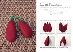 16 Felt Food templates fruits and vegetables to par LouEtLeon