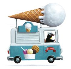 Ice Cream Truck | Illustration by Leo Timmers