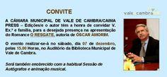 """Apresentação do livro """"O Resgate"""" de Óscar Amorim > 7 Dezembro 2013 - 15h00 @ Biblioteca Municipal, Vale de Cambra  #ValeDeCambra"""