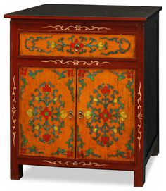 Beautiful Asian Bedroom Furniture Called Gorgeous Hand Painted Tibetan  Cabinet Asian Furniture: Bring The