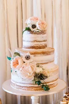 rustic chic wedding cake; Shea Christine Photography