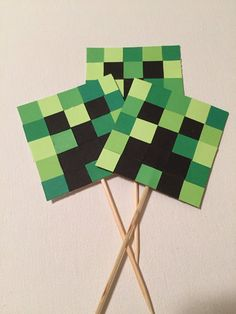 Minecraft Cupcake Toppers, Minecraft Birthday Cake, Minecraft Party, 8th Birthday, Birthday Parties, Creepers, Legos, Party Time, Gift Guide