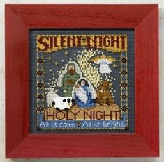 "MH148304 - Silent Night (2008) - Mill Hill - Buttons and Bead Kits - Winter Series Kit Includes: Beads, ceramic buttons, perforated paper, needles, floss, chart and instructions. Mill Hill frame GBFRM9 sold separately Size: 5"" x 5"""