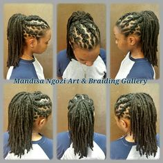 Loc cornrow ponytail by NeciJones