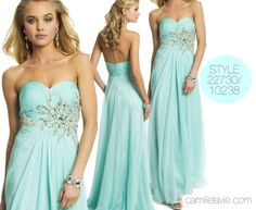 Camille La Vie Chiffon and Lace Strapless Prom Dress with Sweetheart Neckline