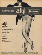Tergal Atyl(ファブリック)1961ルネGruau、メンズファッション