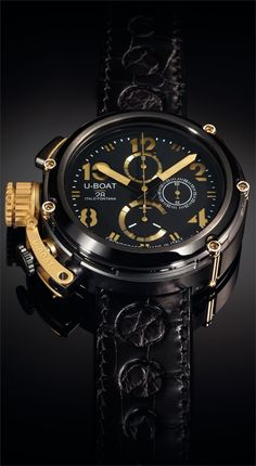 5c75306f7c U-Boat U-51 Gold Arrow 6566 Watch from Authorized Dealer Watchismo.com