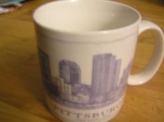 Starbucks Pittsburgh Architectural 2007 Coffee Mug Cup  Oversized 18oz  #StarbucksCoffee
