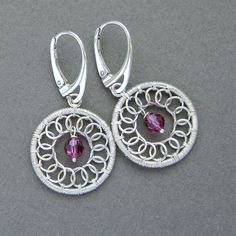 Circle Earrings Wire Wrapping Jewelry Making by SilverDetails