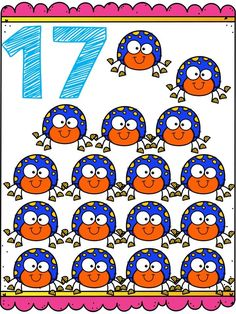 Tarjetas para trabajar los números del 1 al 20 Numbers Preschool, Learning Numbers, Alphabet Activities, Preschool Activities, Fun Easy Crafts, School Colors, Classroom Decor, Phonics, Malm
