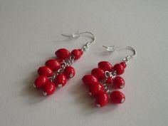 Ohrhänger - Ohrhänger   rote Beeren. - ein Designerstück von sibea bei DaWanda