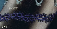 Tatted Edging No. S277 Pattern from Edgings for All Purposes, Clark's O.N.T. J Coats, Book No. 288, in 1952.