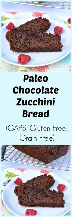 Paleo Chocolate Raspberry Zucchini Bread