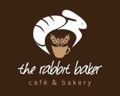 The rabbit baker Logo design by growingincubi - Modern, simple logo featuring a rabbit whose body resembles a loaf of bread and a coffee mug with wheat. The logo is great for businesses such as restaurant, cafe, bakery, food blog and more. #bread #baking #bakery #logo #design #BrandCrowd