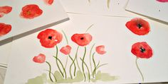 I love Poppies. I've always loved orange -red Poppies. I guess it comes from growing up in Calif. where the state flower is a Poppy. Whatever the reason I've always been a fan….especially of watercolor Poppies. So, I've decided to learn how to paint them-my way. Everyone has a different style of painting flowers, or …