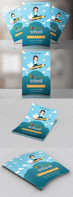 Back To School Party, School Parties, Invitation Flyer, Invitations, Club Design, Party Flyer, Photoshop Elements, Custom Design, Templates