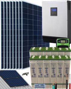 Kits Solares Vivienda Permanente | Comprar Kits Solares Vivienda Permanente al Mejor Precio Kit Solar, Solar Air Conditioner, Solar Projects, Crafts, Shopping, Plates, Solar Panel System, Vegetable Recipes, Crafting