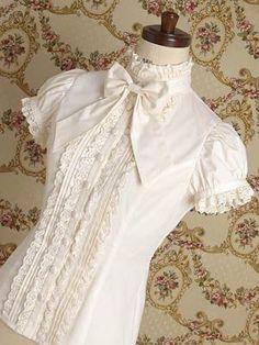 Lolita blouse white cream