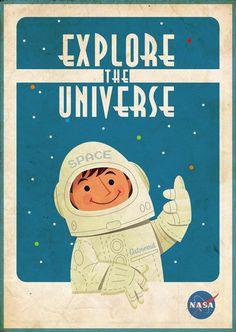 quadfest idea /OUTER SPACE retro posters