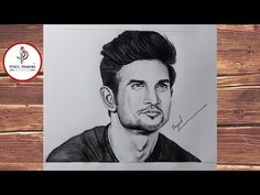 how to draw a Sushant Singh Rajput || Realistic Pencil Drawing || step by step #PencilDrawingStudio - YouTube Disney Drawings Sketches, Art Drawings Sketches Simple, Easy Drawings, Portrait Sketches, Pencil Portrait, Realistic Pencil Drawings, Pencil Art Drawings, Thor Wallpaper, Dope Cartoon Art