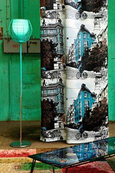 Cushion covers, curtains and fabrics  www.avaradesigns.com    Vallila Bulevard turkoosi