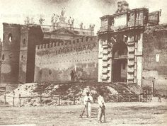 Porta San Giovanni – Piazzale Appio Anno: 1867 Old Photographs, Old Photos, Rome, The Past, Louvre, History, Architecture, Antiques, Building