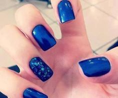 #bluemani #bluenails #blue