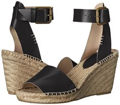 Amazon.com | Soludos Women's Open Toe Leather Espadrille Wedge Sandal | Platforms & Wedges