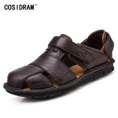 1ef8bf15ad40 SURGUT Comfortable Handmade Men Sandals Genuine Leather Soft Su ...