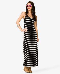 Striped Maxi Dress #Forever21 #SpringDeals #Maxi