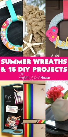 Check out these super easy DIY summer wreaths.