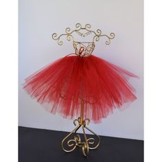 Christmas Tutu Centerpiece/ Ballerina Red Tutu Centerpiece/ Wire... ($37) ❤ liked on Polyvore featuring home, home decor and holiday decorations