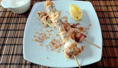 Ricetta spiedini di polpo impanati con quinoa | octopus skewers with quinoa, recipe