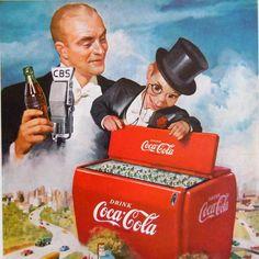 Vintage 1950 Coca Cola Coke Advertisement Charlie McCarthy Ventriloquist Puppet #CocaCola