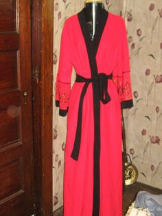 6e15cfe1a26b7d Miss Elaine Soft Velour red w black wrap by Linsvintageboutique, If you  like this robe