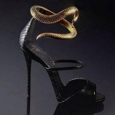 Giuseppe Zanotti Snake Ankle Wrap #Sexy #Sandal
