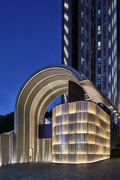 Fine-looking outdoor lighting wedding Facade Lighting, Exterior Lighting, Lighting Design, Lighting Ideas, Building Exterior, Building Facade, Facade Architecture, Amazing Architecture, Outdoor Light Fixtures
