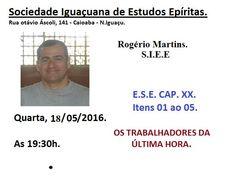 Sociedade Iguaçuana de Estudos Espíritas Convida para a sua Palestra Pública - Nova Iguaçu - RJ - http://www.agendaespiritabrasil.com.br/2016/05/18/sociedade-iguacuana-de-estudos-espiritas-convida-para-sua-palestra-publica-nova-iguacu-rj-5/
