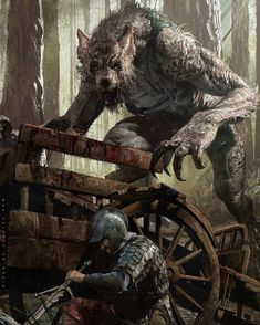 Vincent Werewolf - Illustration done for GWENT: The Witcher Card Game - © CD Projekt RED Captain of the city guard in Vizima, he has a wry sense of humour, but overall seems to be a fair man. Secretly, Vincent is a werewolf, hunting criminals of Vizima at Dark Fantasy Art, Fantasy Artwork, Fantasy Rpg, Medieval Fantasy, Dark Art, Fantasy Art Warrior, Witcher Art, The Witcher, Fantasy Monster