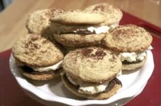 If you love whoopie pies (who doesn't?), and also love the taste of the Italian dessert, Tiramisu-you will love this next recipe. Tiramisu Whoopie Pies are an amazing dessert. We dare you to eat just one! Cupcake Recipes, Pie Recipes, Gourmet Recipes, Sweet Recipes, Cookie Recipes, Cupcake Cakes, Dessert Recipes, Cupcakes, Gourmet Foods