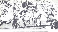 Oregon-Cal 1956 football game. From the 1957 Oregana (University of Oregon yearbook). www.CampusAttic.com