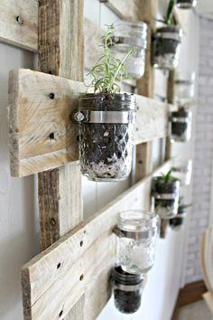 indoor pallet planter