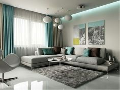 Turquoise Dining Room Ideas, Turquoise Room, Turquoise Living Room Accessories, Using Turquoise i. Living Room Decor Cozy, Living Room Grey, Living Room Interior, Home Living Room, Curtain Ideas For Living Room, Living Area, Bedroom Decor, Wall Decor, Grey Room