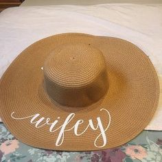 Floppy Sun Hat - Sequin Sun Hat - Bride Hat - Beach hat - Custom floppy hat - Bride to be hat - Beach Bride - Just Married Hat - Honeymoon Floppy Sun Hats, Cricut Wedding, Holiday Pictures, Paper Straws, Tight Budget, Just Married, Sequins, Honeymoon Ideas, Summer Dream