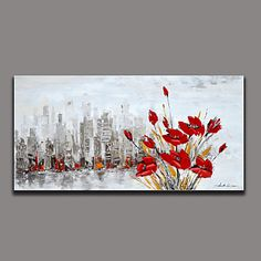floral / botanisk oliemaleri håndmalet væg kunst andre kunstnere håndmalede olie painting8208-2 – DKK kr. 755