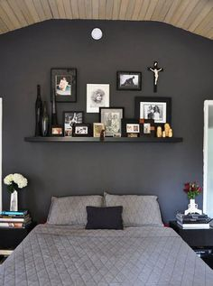 I'm too chicken to do it, but I love a well placed black/dark grey/navy wall.