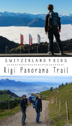 We love this obstacle-free hiking trail at Rigi Switzerland, with sweeping panoramic views of the surrounding alpine landscape. Our favorite part is the big playground at the end with trampolines and big views.