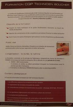 Autour de la cuisine - Formation CQP Technicien Boucher