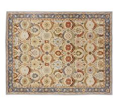Eva Persian-Style Rug | Pottery Barn - here's that rug that was under the dining table in the photo (the one you said you couldn't see very well). It has your color scheme very well represented.